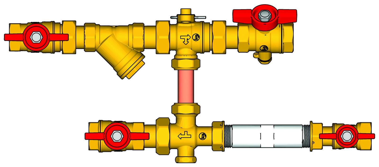 Sestava s filtrem a zónovým ventilem