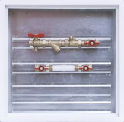 Sestava s filtrem a zónovým ventilem / skříň 500 x 500 x 110 mm