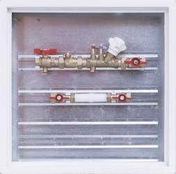Sestava se zónovým a vyvažovacím ventilem / skříň 500 x 500 x 110 mm