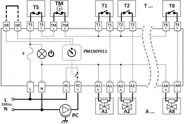 Schéma zapojení PM100Y011