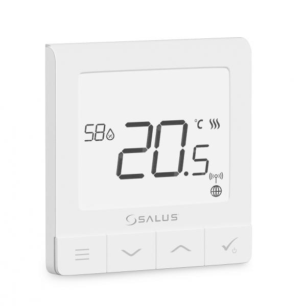 Bezdrátový ultratenký termostat s čidlem vlhkosti