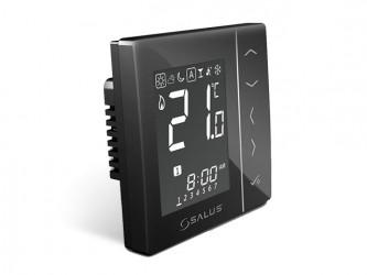Bezdrátový digitální pokojový termostat 4v1 - černý
