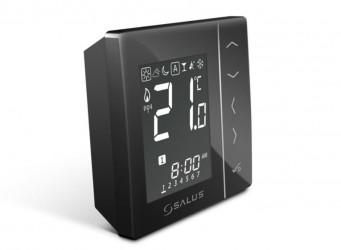 Bezdrátový digitální pokojový termostat 4v1 – černý